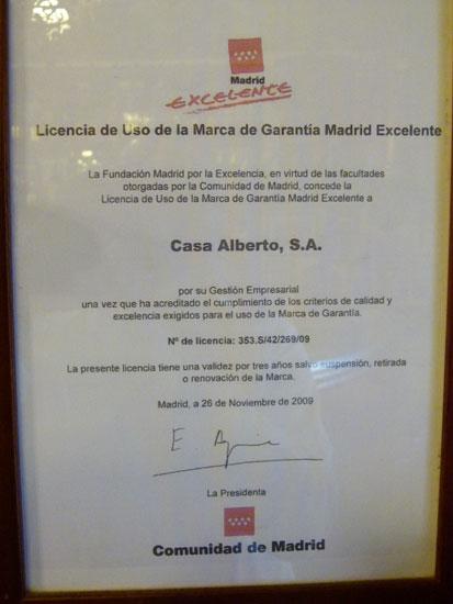 Madrid Excelente. 2009