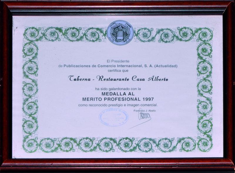 Medalla de Oro al Merito Profesional 1997