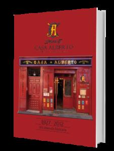 Libro historia restaurante centenario Casa Alberto Madrid