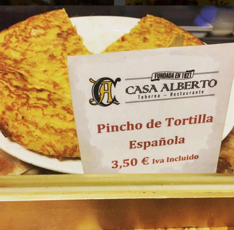 Tortilla de patata Casa Alberto